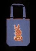 Двусторонняя молодежная сумка ручной работы.  Ограниченный тираж.